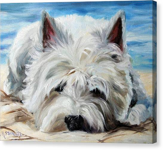 Mary Canvas Print - Beach Bum by Mary Sparrow