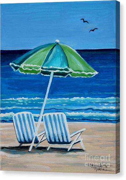 Beach Chair Bliss Canvas Print
