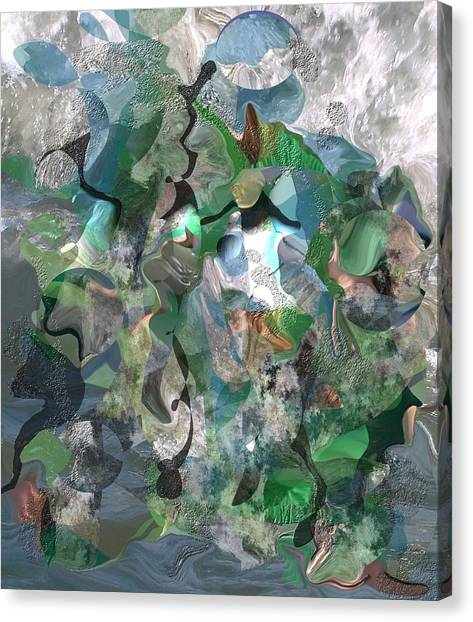 Beach Collage Canvas Print by Peter Shor