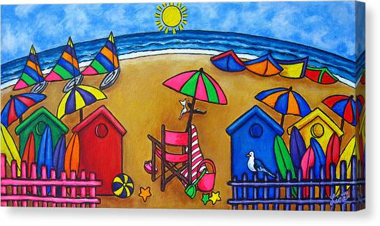 Beach Colours Canvas Print