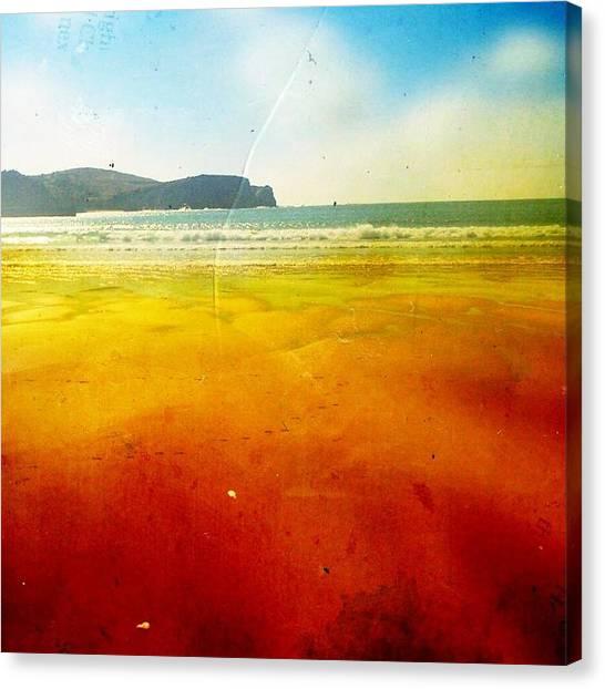 Contemporary Art Canvas Print - Beach by Contemporary Art