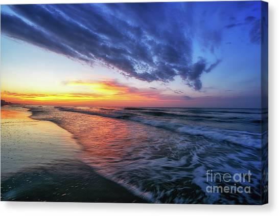 Beach Cove Sunrise Canvas Print