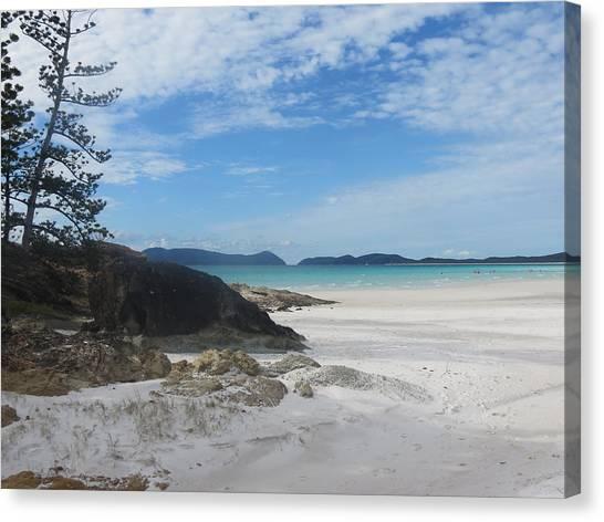 White Sand Canvas Print - Beach by Daniela NentWich
