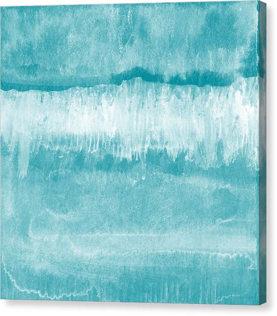 Waving Canvas Print - Beach Day Blue- Art By Linda Woods by Linda Woods