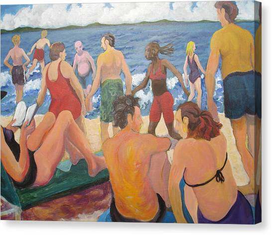 Beach Day Canvas Print by Rufus Norman