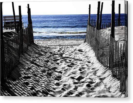 Beach Entry Fusion Canvas Print