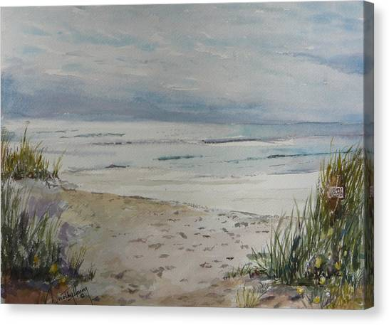 Beach Front Canvas Print by Dorothy Herron