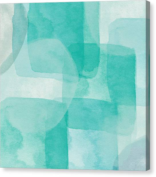 Abstract Designs Canvas Print - Beach Glass- Abstract Art By Linda Woods by Linda Woods