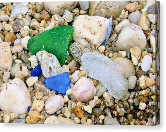 Beach Glass Canvas Print
