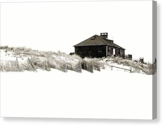 Beach House - Jersey Shore Canvas Print