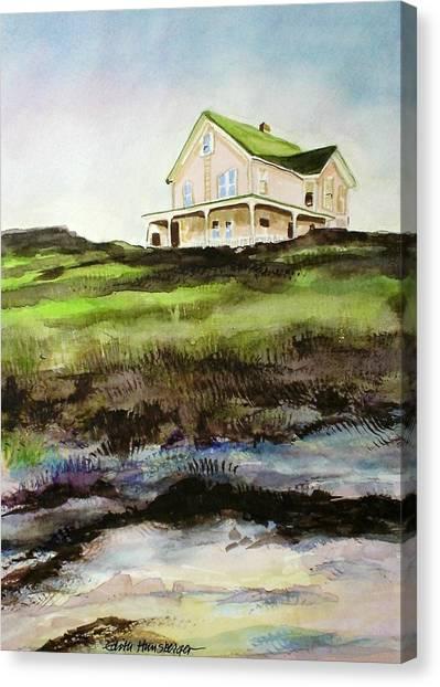 Beach House Block Island Canvas Print