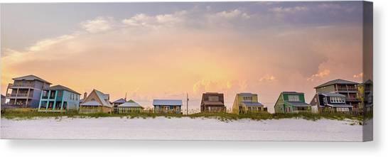 Beach House Sunset Canvas Print