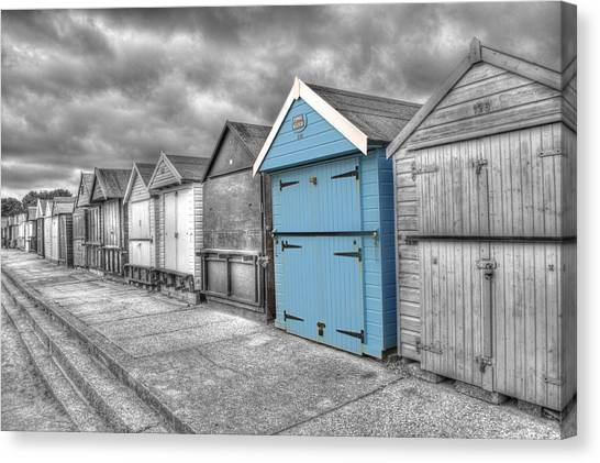 Beach Hut In Isolation Canvas Print