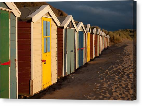 Beach Huts II Canvas Print