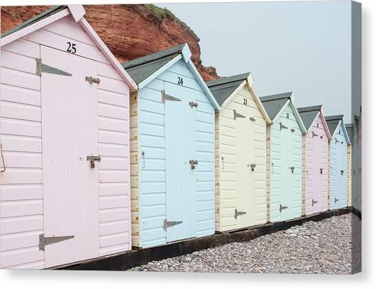 Beach Huts Vi Canvas Print