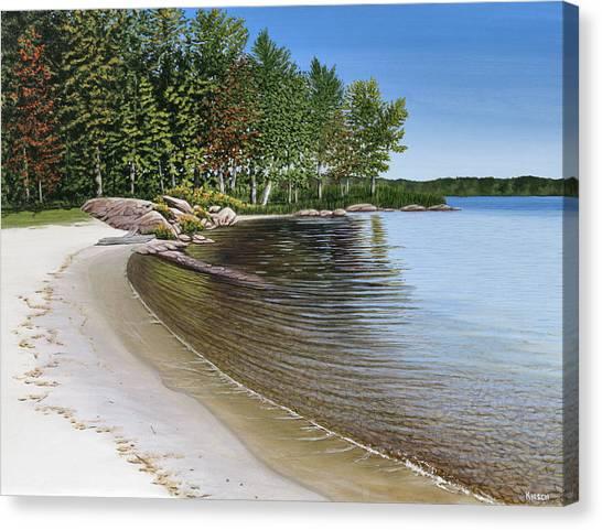 Beach In Muskoka Canvas Print