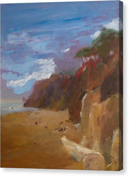 Beach In Santa Barbara Canvas Print by Irena  Jablonski
