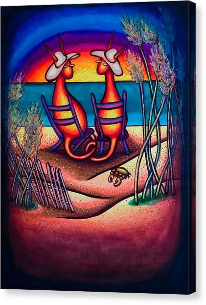 Beach Kats Canvas Print