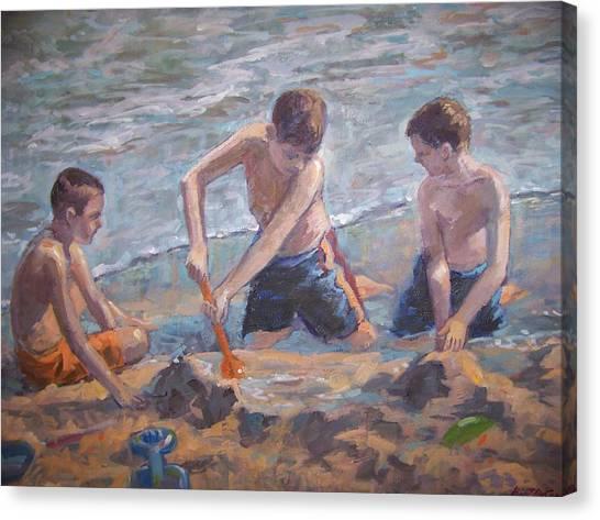Beach Kids Canvas Print