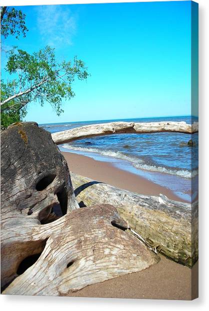 Beach Lodging Canvas Print by Peter Mowry