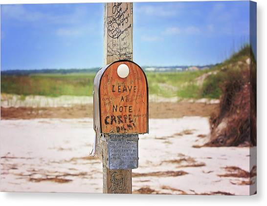 Beach Mail Canvas Print
