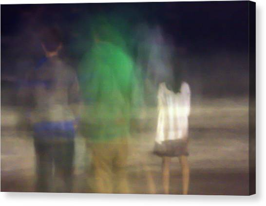 Beach Night 2 Canvas Print