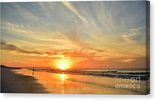 Beach Of Gold Canvas Print