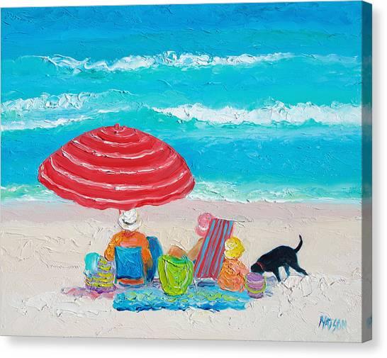 Beach Decor Canvas Print - Beach Painting - One Summer by Jan Matson