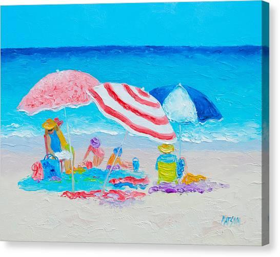 Beach Painting - Summer Beach Vacation Canvas Print