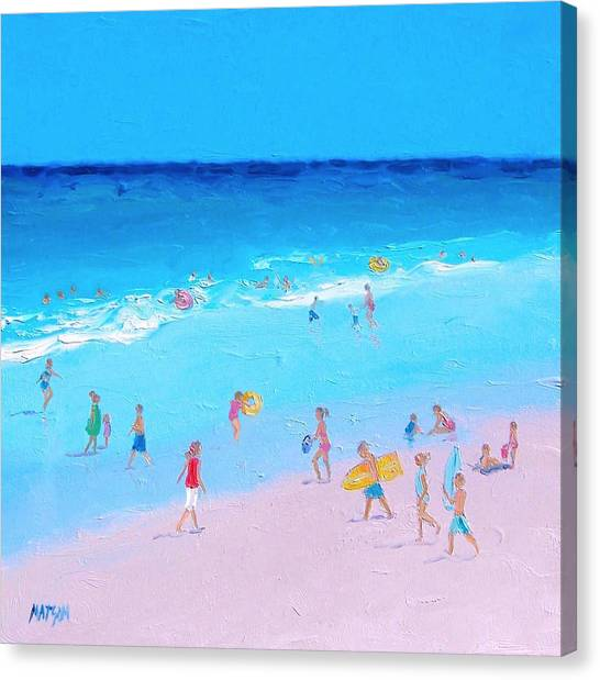 Summer Holiday Canvas Print - Beach Painting - Summer Holiday by Jan Matson