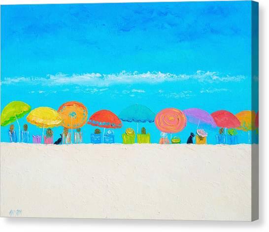 Coastal Wall Art Canvas Print - Beach Painting - Those Lazy Days Of Summer by Jan Matson