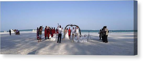 Exploramum Canvas Print - Beach Panoramic Wedding  by Exploramum Exploramum