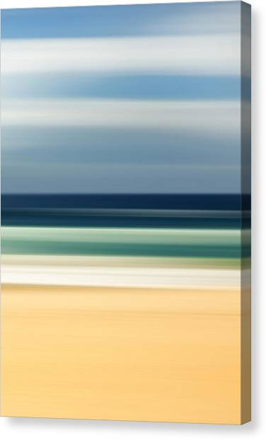Fluids Canvas Print - Beach Pastels by Az Jackson