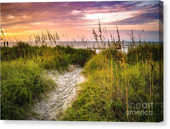 Beach Path Sunrise Canvas Print