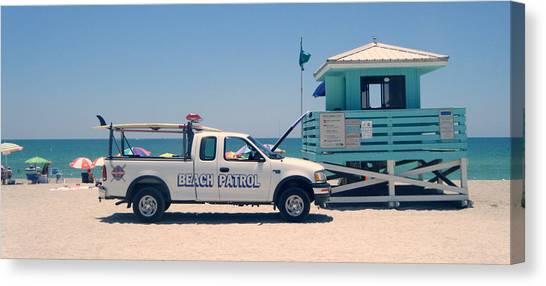 Beach Patrol Canvas Print by Steven Scott