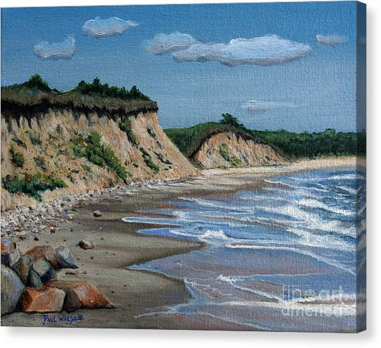 Marthas Vineyard Canvas Print - Beach by Paul Walsh