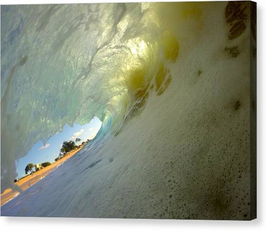 Bodyboard Canvas Print - Beach Peek by Benen  Weir