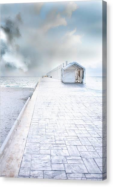 Beach Pier Canvas Print