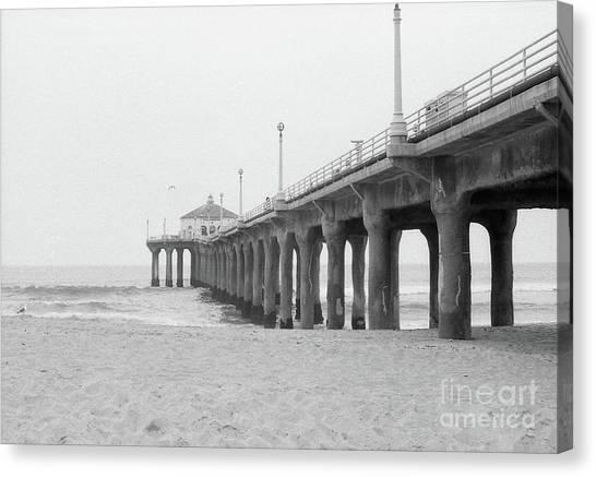 Beach Pier Film Frame Canvas Print