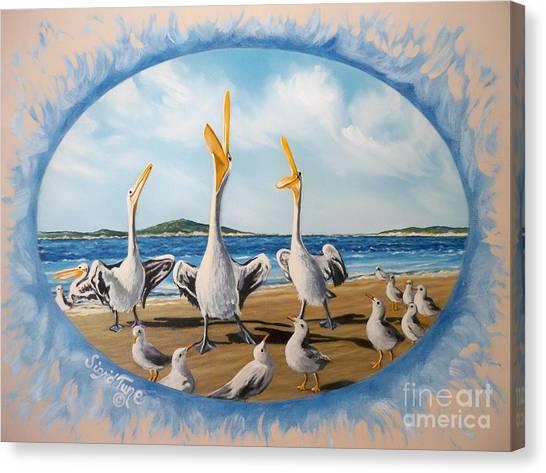 Privileged. Pelican  Procedure Prevailed   Canvas Print