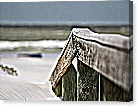 Beach Rail Canvas Print