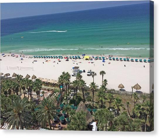 White Sand Canvas Print - Beach Resort by Danielle Moore