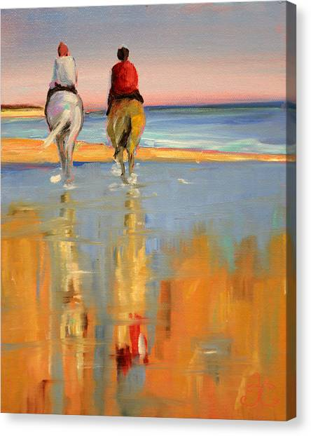 Beach Riders Canvas Print
