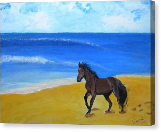 Beach Run Canvas Print