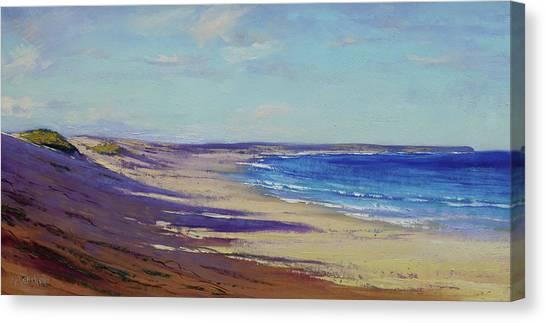 Impressionist Beach Canvas Print - Beach Sand Shadows by Graham Gercken