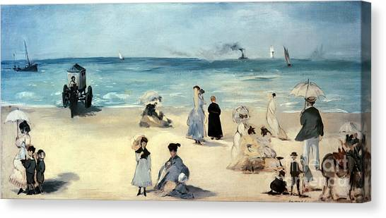 Beach Resort Vacation Canvas Print - Beach Scene by Edouard Manet