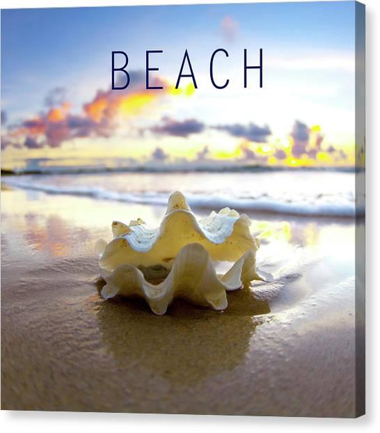 Clams Canvas Print - Beach. by Sean Davey