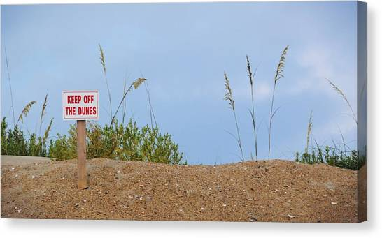 Beach Signs Canvas Print by JAMART Photography