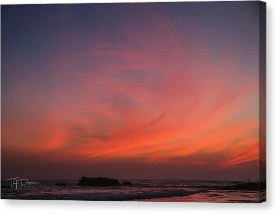 Beach Sky Blaze Canvas Print