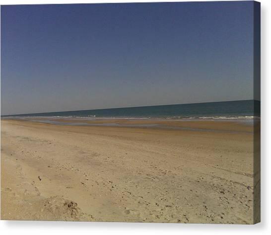 Beach Solitutde Canvas Print by Al Smith